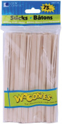 Loew-Cornell Woodsies Skinny Craft Sticks, 15cm , Natural, 75-Pack