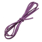 Water & Wood 1m Faux Suede Cord Craft Lace Leather Flat Cord DIY Rope Strings Bracelet Violet