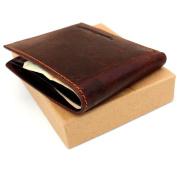 Men Money Vintage Genuine Italian Leather Slim Wallet Coin Natural Pocket Purse Au Retro Style.