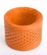 ORANGE Paper Raffia Ribbon 0.6cm x 100 yards