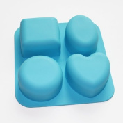 X-Haibei Basic Square Heart Oval Round Soap Silicone Mould Candle Making for Homemade
