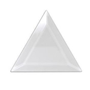 Pack of 10 10cm X 10cm X 10cm Clear Glass Triangle Bevels