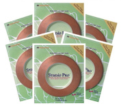 STUDIO PRO STAINED GLASS SUPPLIES 0.6cm BLACK BACK COPPER FOIL 6 ROLLS