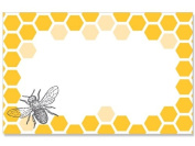 50 pack Bee & HoneycombNo Sentiment Enclosure Cards