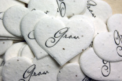 Grow Heart Shape Seed Embedded Cotton Handmade Paper Tags