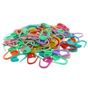 100pcs Knitting Crochet Locking Stitch Needles Clip Markers Holder