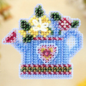 Flower Showers Beaded Counted Cross Stitch Ornament Kit Mill Hill 2005 Spring Bouquet MHSB87