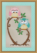 Love at First Sight Cross Stitch Pattern - Cute Hoot Owl Design
