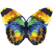 MCG Textiles 37715 Butterfly Shaped Latch Hook Rug Kit, 80cm by 60cm