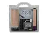 Strokes Art 18-piece Professional Artist Sketch & Draw Pencil Set