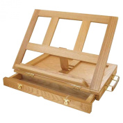 Strokes Art Supplies Artistic Wooden Desk Easel (33cm - 0.6cm w x 25cm H x 5.1cm - 1.9cm D) With Drawer Includes Free Wooden Palette ! Professional Quality !