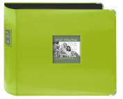 Pioneer Photo Albums T-12JF/C Jumbo 3-Ring Sewn Leatherette Frame Cover Memory Book Binder, Lime Green