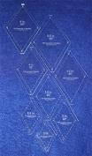 Diamond Templates 8 Pc Set No Tips 5.1cm - 14cm - Clear 0.3cm 60 Degree