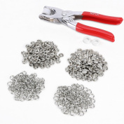 Prong Ring Snap Fastener Pliers Stud Press 100 Pieces Snap Buttons Silver
