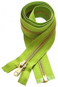 30cm Medium Weight Jacket Zipper YKK #5 Brass ~ Separating ~ 536 Spring Green