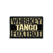 TACTICAL COMBAT BADGE MORALE hook and loop MILITARY PATCH WHISKEY TANGO FOXTROT ACU