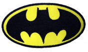 1 X Batman Logo ~ Embroidered Iron On / Sew On Patch