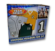 Team Spirit Unifrom Numbers for 20 Uniforms Iron-on Transfer Numbers