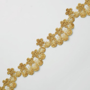 Metallic GOLD Lace Trim for Bridal, Costume or Jewellery, Crafts and Sewing, 4.1cm by 1 Yard, LP-MX-685