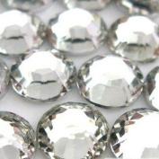 DGI MART 1000pcs 4mm 14 Cut Flat Back Rhinestone Round Brilliant Loose Beads - 16ss Clear