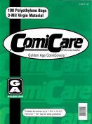 ComiCare Golden Age Comic Book Polyethylene Bags 18cm - 1.9cm x 27cm Plus 3.8cm Flap