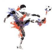 RoomMates RMK2490GM Men's Soccer Champion Peel and Stick Giant Wall Decals, 1-Pack