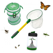 3pc Backyard Safari Creature Adventure Set Bug Jar Net Habitat Educational Toy