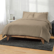 Ultra Soft Bamboo Duvet Covers by ExceptionalSheets, Full/Queen, Taupe