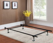 Khome Super Duty Metal Bed Frame with Rug Rollers & Locking Wheels-TWIN size
