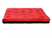 Artiva USA Home Deluxe 20cm Futon Sofa Mattress Made in US Best Quality, Full, Solid, Black & Red