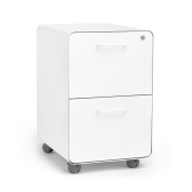 Poppin Rolling East 18th 2-Drawer File Cabinet, White