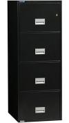 Keystone Phoenix Vertical 60cm - 4-Drawer - Legal - Impact Fireproof File Cabinet - Black