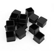 Dimart 15Pcs Black Rubber 30mmx30mm Square Chair Foot Cover Chair Leg Caps