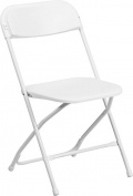 Flash Furniture Y-L-9-WH-GG HERCULES Series 360kg Capacity Plastic Folding Chair, White