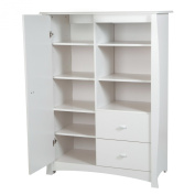 South Shore Beehive Armoire with Drawers, Pure White