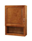 Hardware House LLC H11-5254 Manchester Collection Single Door Linen Cabinet, Chestnut Finish