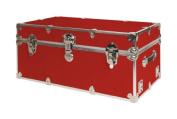SecureOnCampus College Dorm Trunk / Footlocker Large - Red