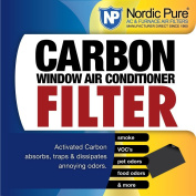 Nordic Pure Carbon Window AC Unit Filter 14x48 Cut to Fit Sheet