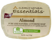 Clearly Natural Glycerine Bar Soap Almond -- 120ml