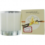 VANILLA SENSUAL - LIMITED EDITION by Exceptional Parfums SENSUAL VANILLA SCENTED 180ml TAPERED GLASS JAR CANDLE.