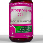 Best Peppermint Oil ★ LARGE 120ml ★ 100% Pure & Natural Essential Oil for Aromatherapy & Many Household Purposes • THERAPEUTIC Grade PREMIUM QUALITY with Health Benefits Including - Quick Relief from Stress, Migraines, Headaches & Anxiety • Hel ..