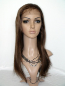 Sina Beauty high quality queen hair style full lace wig natural straight wig #4 medium brown 36cm virgin brazilian hair human wig fastshipping