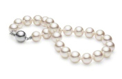 HinsonGayle AAA Handpicked 7.5-8.0mm White Round Cultured Freshwater Pearl Bracelet