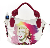 Marilyn Monroe Large Purse, White Tote, New 2015
