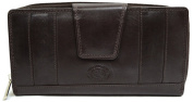 Ladies / Womens Large Leather Matinee Wallet with Mulitple Features