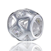 925 Sterling Silver Bead Element Zirconia - Model of Beads