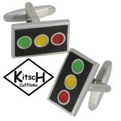 Traffic Light Transport Cufflinks by Kitsch Cufflinks Brand