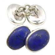 Lapis lazuli cufflinks in sterling silver 925 - Stone size 8x12mm