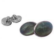 Labradorite cufflinks in sterling silver 925 - Stone size 10x14mm