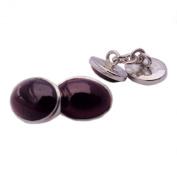 Garnet cufflinks in sterling silver 925 - Stone size 10x14mm